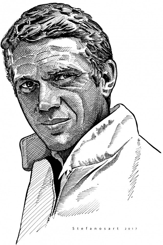 Steve McQueen by Stefanosart